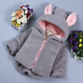 kids snowsuit baby girl clothes new year children clothing cute hooded thick velvet jacket girls winter coat infant 2 colors