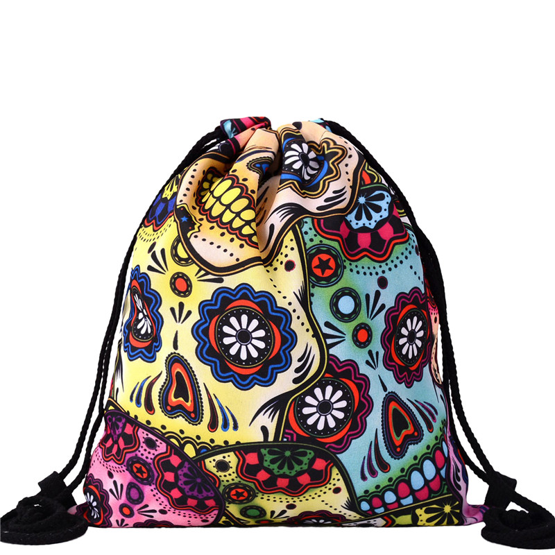 Girls backpack schoolbag birthday gift mochila drawstring bag for kids childs cute cartoon Polyester Boys backpack Beach bag