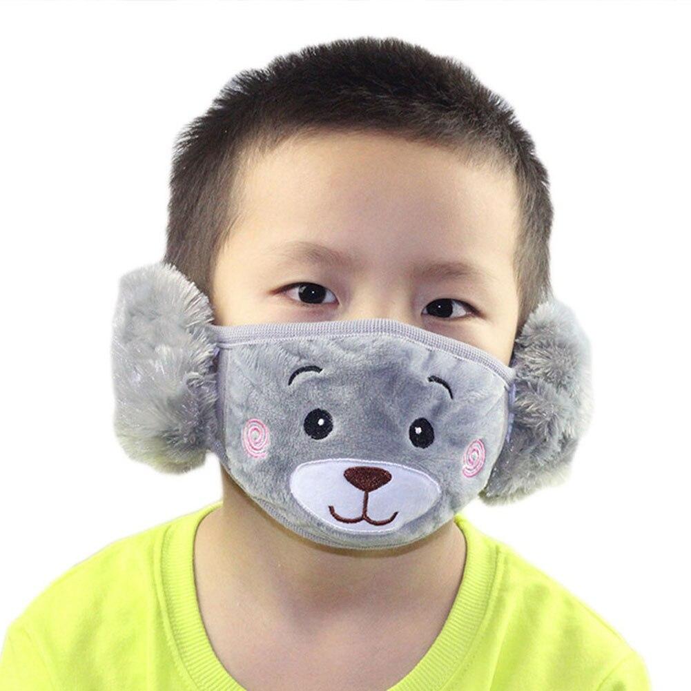 New 1pcs Cartoon Dust Winter Masks Ear Windproof Warm Face Mouth  Child Earmuffs Ear Masks