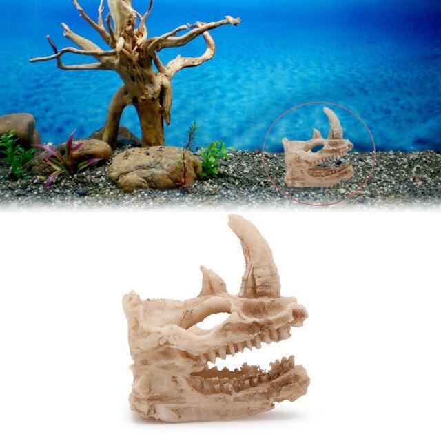 Künstlichen Rhino Schädel Aquarium Simulation Statue Ornament ...
