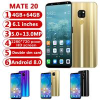 cell phone screen CHAOAI Smart Phone Android 4GB+64GB Mate20 Pro 6.1
