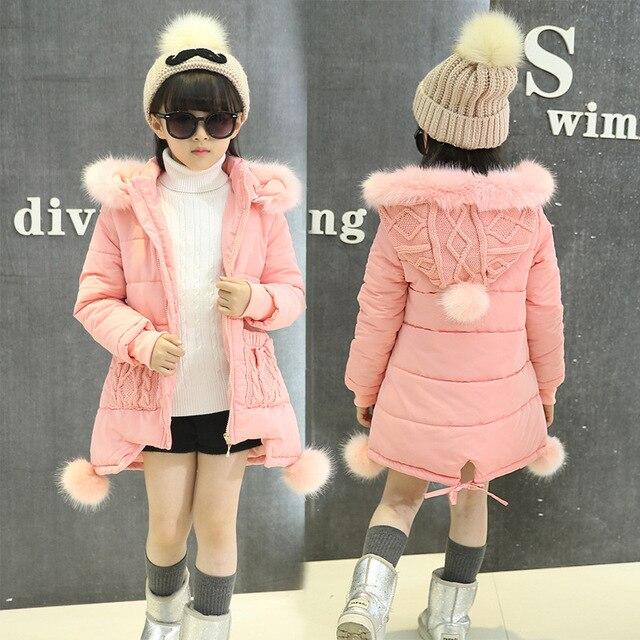 36414d792 2019 Girls Winter Coat Children Clothing Girls Clothes Fashion Fur ...