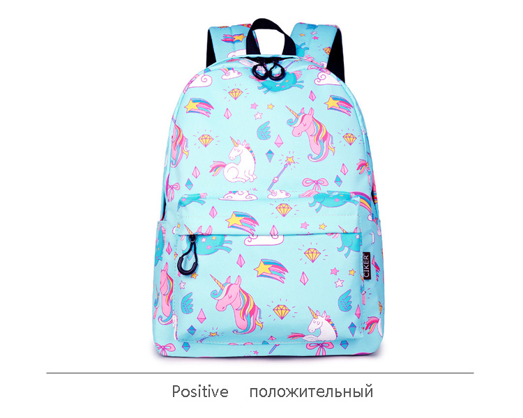 WINNER School Backpack Cartoon Rainbow Unicorn Design Water Repellent Backpack For Teenager Girls School Bags Mochila (15)