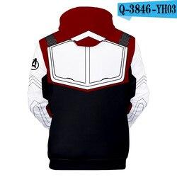 Avengers Endgame Quantum Realm 3D Hoodies Men Marvel Fans Hip Hop Sweatshirt Pullover Pocket Streetwear Outerwear Drop Shipping 2