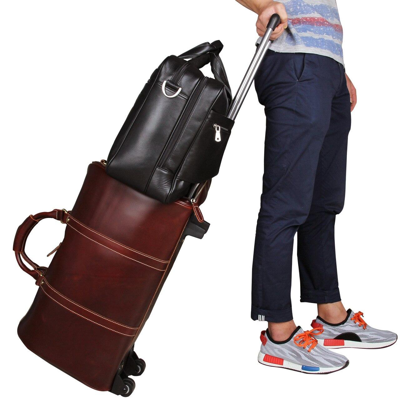 Business Schulter Echtem Laptop Reisetaschen Handtasche Mode Umhängetasche Männer Coole Computer Schwarzes Tasche Aktentasche Leder xw4Ev1