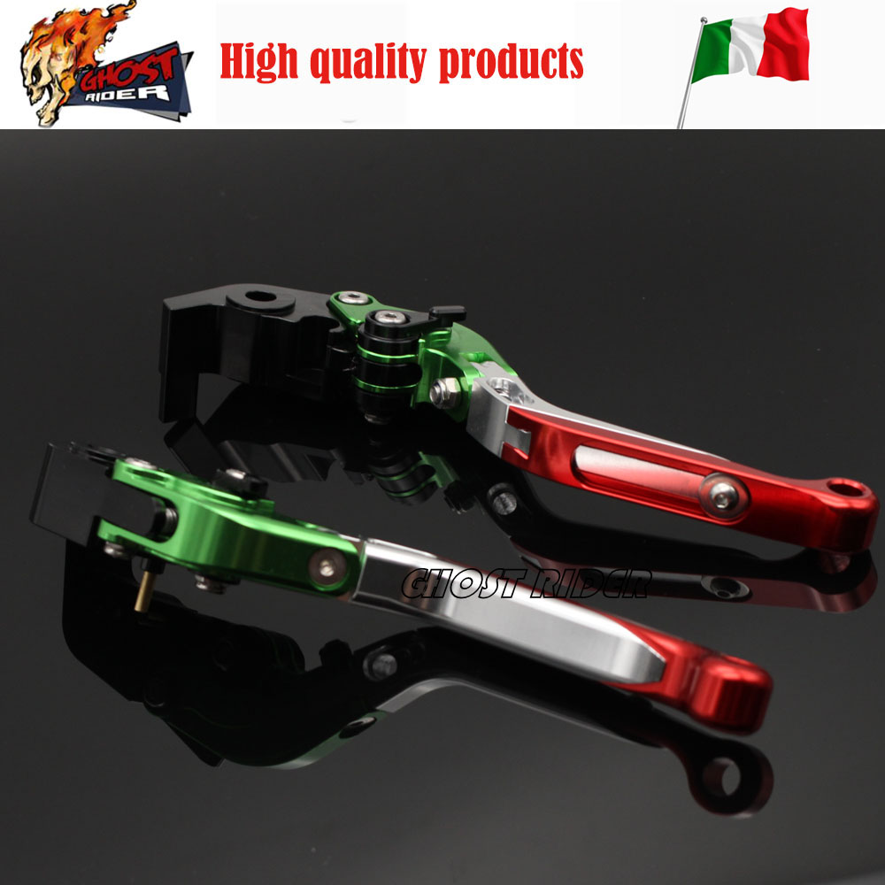 For DUCATI 999/S/R 749/S/R 2003-2006, S4RS 2006-2008, 848/EVO 2007-2013 CNC Folding Extendable Brake Clutch Levers купить
