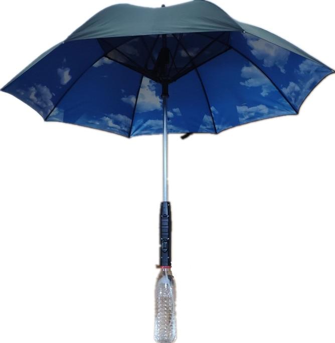 Straight Handle Walking Stick Umbrella 8 Bone Umbrella Stand Rain and Rain Dual-use Anti-Skid Sunshade Cane Retractable Umbrella