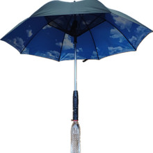 Long-Handle Summer Umbrella with Fan and Spray