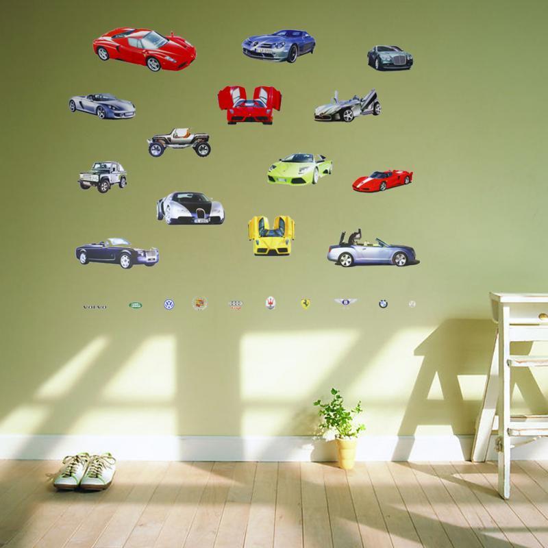 Cartoon car aircraft ship DIY Vinyl Wall Stickers For Kids Rooms ...