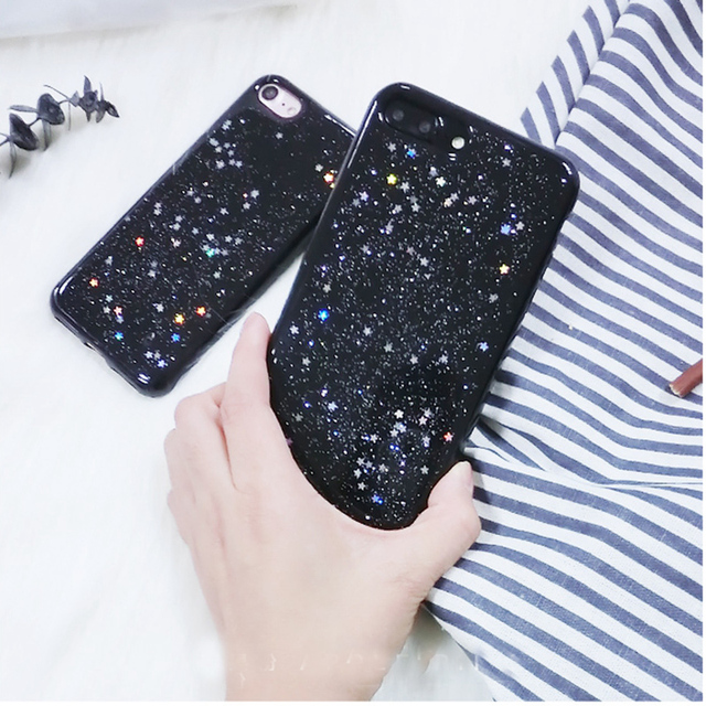 Kerzzil Bling Glitter Soft Silicone Case For iPhone 7 6 6S Plus Star Cover Shining Phone Cases For iPhone X 6 6S 8 Plus Capa 3