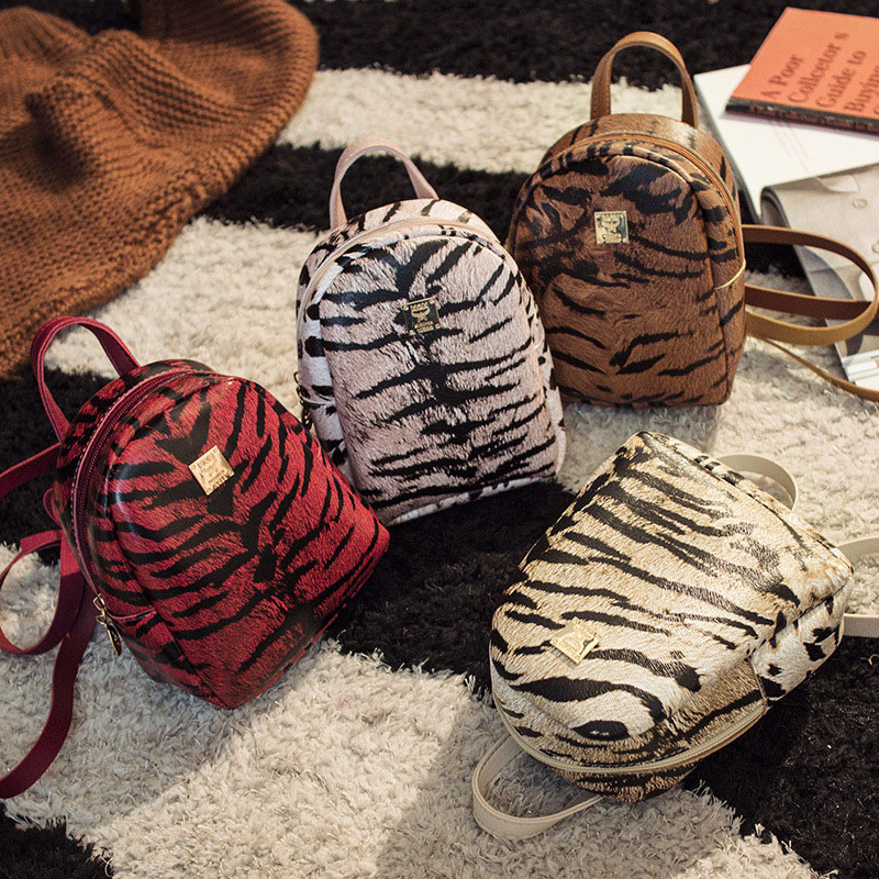 Leopard Backpack Women Multifunction Backpack Mini For Girls Female Crossbody Bags Small Ladies Shoulder Bags Fashion Hand Bags