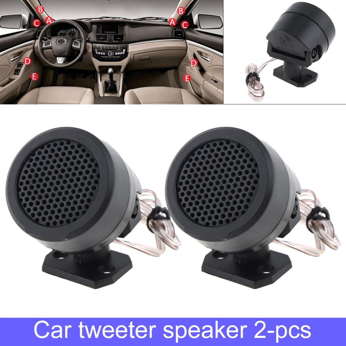 1 Pair  500W High Efficiency Mini Dome Car Tweeter Speakers Auto Horn Audio Music Stereo Speakers For Car Audio System