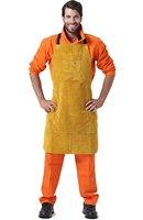 Leather Welding Apron Welder Protect Clothing Carpenter Blacksmith Gardening Work Cowhide Clothing 95X56CM Golden Color