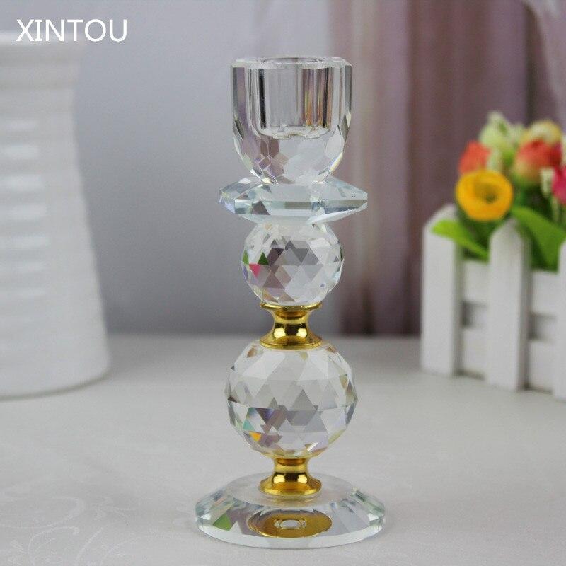 xintou candelabros de cristal de diamante de cristal bola de navidad en casa de la boda decoracin de la casa de metal titular p