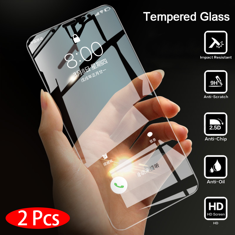 Bupuda 2Pcs Glass for Xiaomi Redmi 5 Glass on the 5 Protective Tempered Glass for