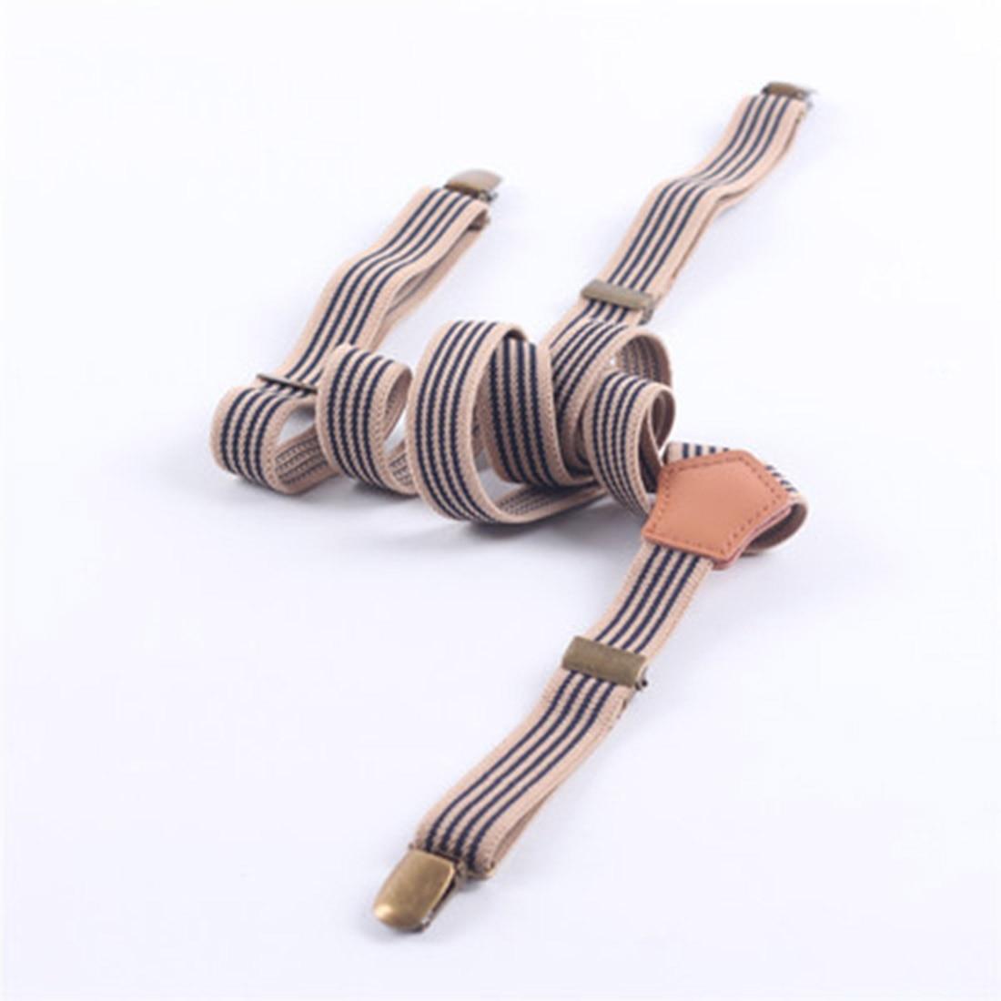 Hot Fashion Jeans Striped Retro 3 Clip Men Women Casual Suspenders Unisex Adjustable Braces