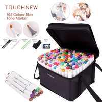 Художественная ручка-маркер для рисования, TOUCHNEW 40 60 80 168 цветов, спиртовая графика, эскиз, двойные маркерные ручки, подарочный альбом для рис...