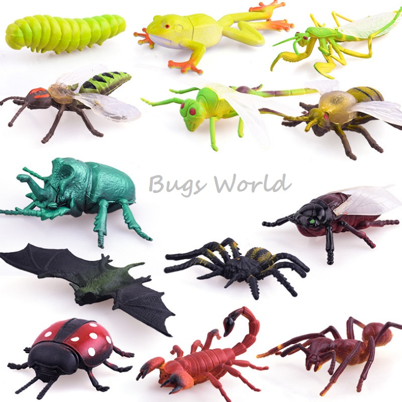 Insect Bugs Toys Kid Science Educational High Simulation Insects Frog Butterfly Toy Figures Marine Organism Insetos De Brinquedo