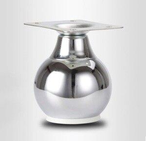 Image 1 - Pieds de canapé en forme de boule, Table et salle de bains, armoire, 4 pièces/lot H:9cm