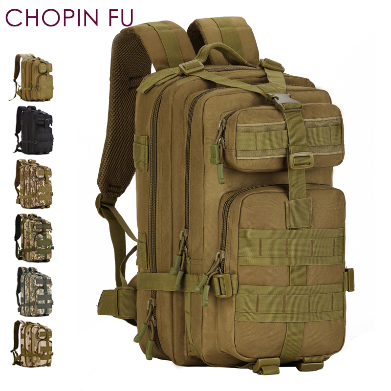 Army Green 30L MOLLE Military Tactical Multicam  Backpack 3P Rucksacks Hiking Trekking Hydration Assault Backpack Bag A3117 emersongear lbt2649b hydration carrier for 1961ar molle backpack military tactical bags hunting bag multicam tropic arid black
