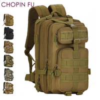Army Green 30L MOLLE Military Tactical Multicam Backpack 3P Rucksacks Hiking Trekking Hydration Assault Backpack Bag