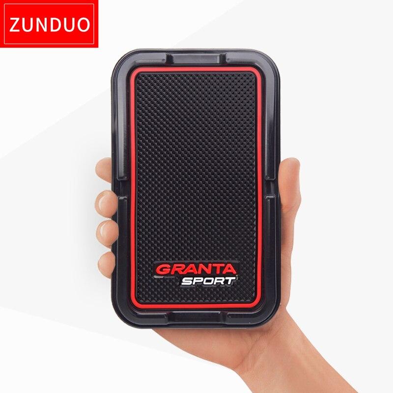 Cojín antideslizante Esterillas para Lada Kalina Granta deporte Lada 4x4 car Dashboard GPS clave navegador móvil titular
