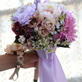 2016 Bride Flower Lilacs Wedding Bouquets Colorful Artificial Bridesmaids Bouquet High Simulation Bridal Hand Holding Flowers