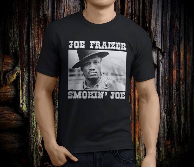 ccda09042e5b New Cool JOE FRAZIER Smokin Joe Boxinger Legend Men's Black T-shirt Size S- 3XL Summer Mens Print T Shirt Fashion