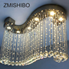 ZMISHIBO Luxury Clear Crystal Ceiling Pendant Lamp S Shape 80 30 60CM 6pcs Gu10 Bulbs Surfaced