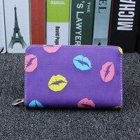 MIWIND Fashion Hot Sale Women Wallet Lips Lichee Pattern 3 Fold Ladies Wallet High Quality Solid