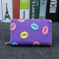 MIWIND Fashion Hot Sale Women Wallet Lips Lichee Pattern 3 Fold Ladies Wallet High Quality Solid
