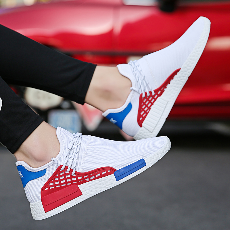 New Designer Black White Red Mesh Tenis Sneakers Casual Shoes Men 2018 Fashion Summer Sneakers Male Footwear Walking Shoes