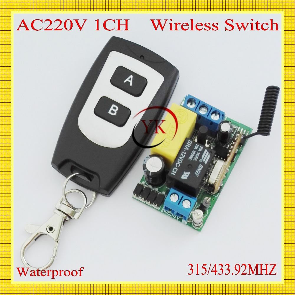 Lights & Lighting Wireless Switch 220v 1ch 2 Ab Button Wireless Receiver&transmitter 220v1ch 10a Output State Is Adjustable 1ch 1000w 200m Switches