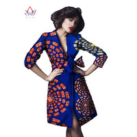African dresses for Women 2019 New Turn down Collar African Bazin dresses Dashiki African Fashion Design African Prints Dresses
