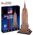 Modelo de papel, los niños de juguete diy, arte de papel, regalo de cumpleaños, 3D Puzzle educativos modelo, modelo de tarjeta, Empire State Building