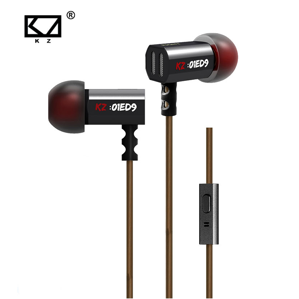 KZ ED9 Super Bass In Ear Music Earphone With DJ Earphones HIFI Stereo Earbuds Noise Isolating Sport Earphones With Mic kz zs3 detachable in ear sport earphones with mic for mobile phone hifi stereo earphone dj xbs bass headset runing earbuds