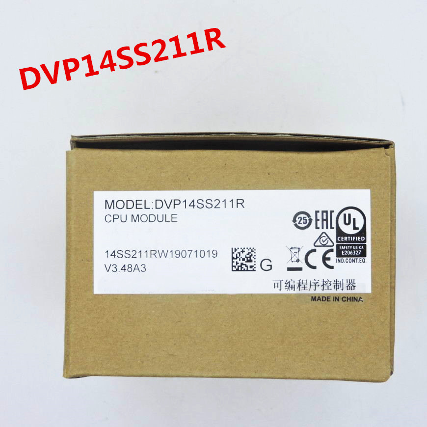 Original Full New SS2 series PLC programmable controller DVP14SS211R relay ouput 24VDC 8DI 6DO in box