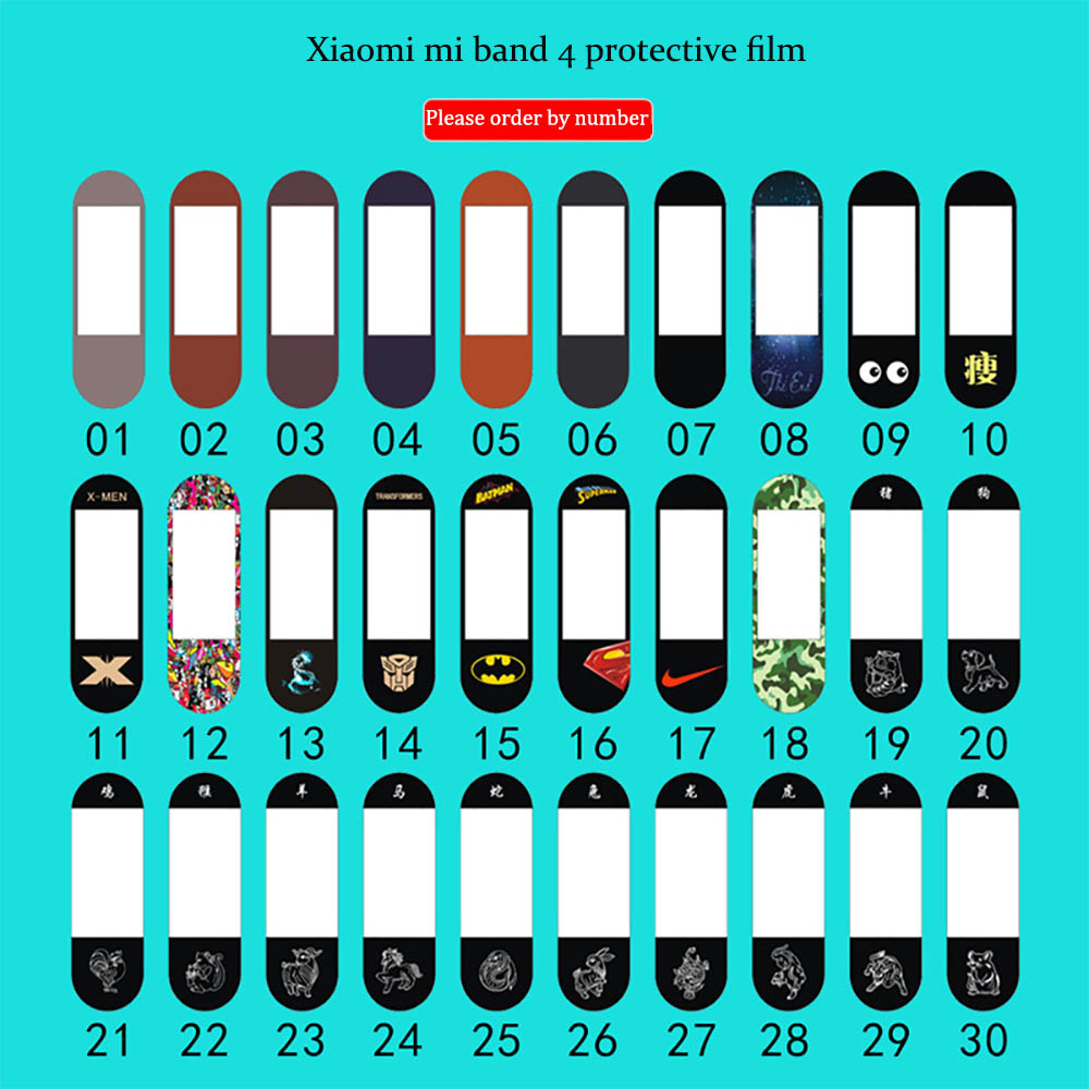 Protector Film For xiaomi mi band 4 Nano explosion-proof film for miband 4 NFC version color film Full Screen Protective film image
