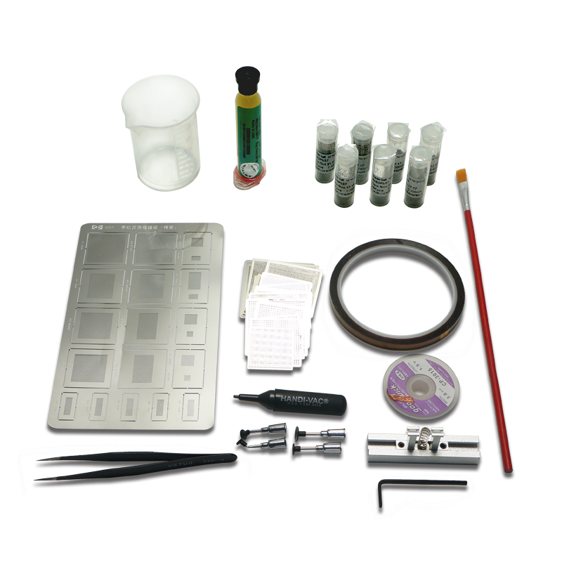 50pcs BGA Reballing Directly universal Heat Stencils + Solder Paste Balls Station BGA Reballing kit For SMT Rework Repair электромеханическая швейная машина vlk napoli 2100