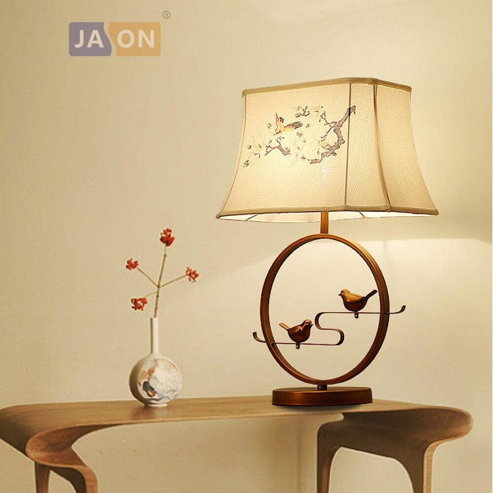 LED e27 chinois fer oiseau tissu lampe à LED. lumière LED. lampe de Table. lampe de Table. lampe de bureau. LED lampe de bureau pour chambre