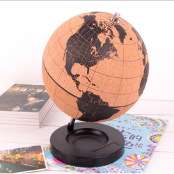 MIRUI Cork Wood Tellurion Globe Marble Maps Globes Home Office Decoration World Map Inflatable Training Geography Map Balloon