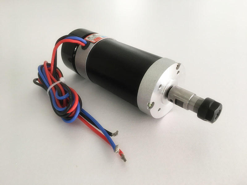 2018 CNC Spindle 400W Brushless DC Spindle Motor ER11 55MM Air Cooled Router Spindle For Milling Machine dc48v 400w 12000rpm brushless spindle motor air cooled 529mn dia 55mm er11 3 175mm for cnc carving milling