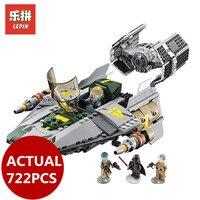 LEPIN 05030 Star 722Pcs Vader Tie Wars Advanced VS A Wing Starfighter 75150 Building Blocks Bricks