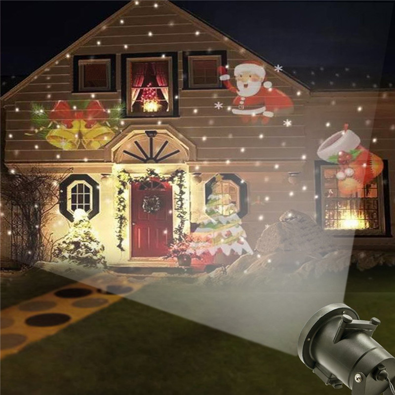 Tanbaby Waterproof Projector Landscape Snowflake Spotlight LED with 12 Interchangeable Slides for Holiday Christmas Party Garden