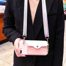 Роскошный Карманный Кошелек с веревкой, чехлы для телефонов, чехол через плечо с ремешком на цепочке для iPhone 6, 7, 8 Plus, X, XR, XS MAX, наплечная крышка