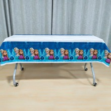 108cm*180cm Frozen Party Anna Disposable Birthday Tablecloths Kids Happy Decorations Plastic Tablecover Supplies