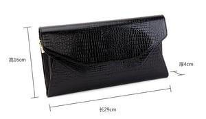 2016 new ASNK brand women handbag Crocodile Genuine Leather Shoulder Bag Evening Clutch Wallet Purse Chain Messenger Bag(China)