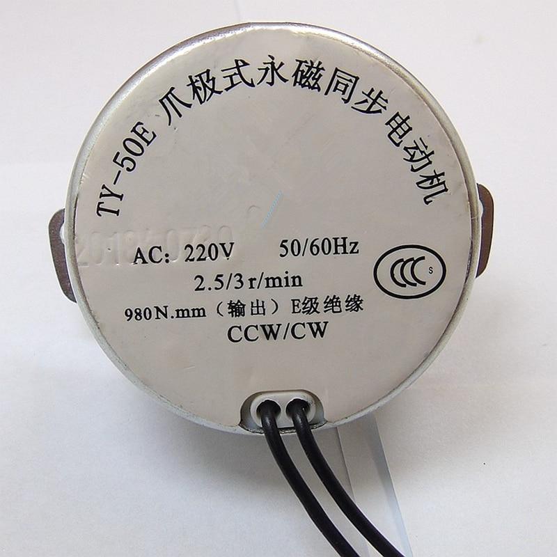 TYC-50 Synchronous Motor AC 220V 2.5-3 r//min 50//60Hz CW//CCW 4W 10mm Length Shaft
