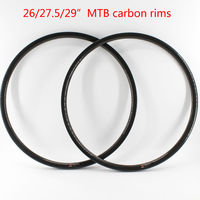 2pcs New 26 27 5 29er Inch Clincher Rim Mountain Bicycle 3K UD 12K Full Carbon
