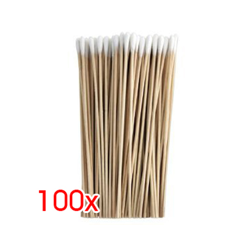 100Pcs 6 Inch Thin Wood Cotton Tipped Applicator For Gun Cleaning New